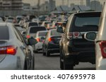 abstract blur of traffic jam... | Shutterstock . vector #407695978