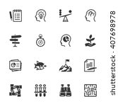 business management icons   set ... | Shutterstock .eps vector #407698978