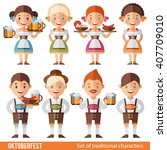vector set of characters in a... | Shutterstock .eps vector #407709010