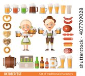 vector set of characters and... | Shutterstock .eps vector #407709028