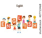 children with english alphabets ... | Shutterstock .eps vector #407713468