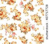 rose flower pattern  | Shutterstock .eps vector #407717728