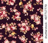 rose flower pattern  | Shutterstock .eps vector #407717770