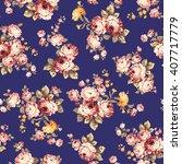 rose flower pattern    Shutterstock .eps vector #407717779