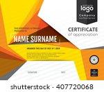 modern certificate with... | Shutterstock .eps vector #407720068