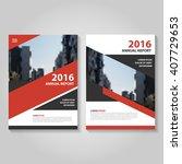 red black vector annual report... | Shutterstock .eps vector #407729653