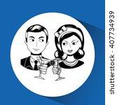 lady and gentleman design  | Shutterstock .eps vector #407734939