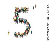 numbers made of people. large... | Shutterstock .eps vector #407743186