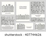 hand drawn house  card template ... | Shutterstock .eps vector #407744626