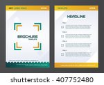 brochure template  flyers ... | Shutterstock .eps vector #407752480