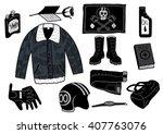 biker set | Shutterstock .eps vector #407763076