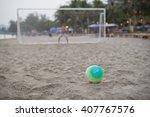 beach soccer    Shutterstock . vector #407767576