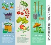 garden banner garden tools... | Shutterstock .eps vector #407775814
