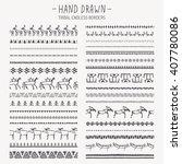 Big Set Of Hand Drawn Tribal...