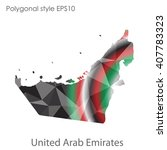 uae united arab emirates map in ... | Shutterstock .eps vector #407783323
