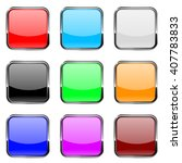 square buttons. shiny colored...   Shutterstock . vector #407783833
