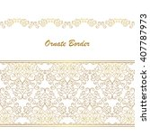 vector decorative frame....   Shutterstock .eps vector #407787973