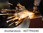 drill with diamond tipped... | Shutterstock . vector #407794240