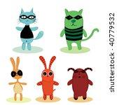 superhero characters | Shutterstock .eps vector #40779532