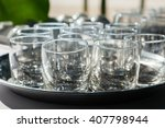 empty glasses composition on... | Shutterstock . vector #407798944
