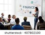 finance money debt credit... | Shutterstock . vector #407802100