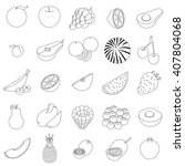 fruit set | Shutterstock . vector #407804068