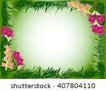 illustration with flowers and...