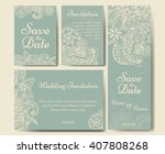 wedding card collection.... | Shutterstock .eps vector #407808268