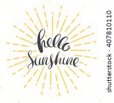 hello sunshine vector card with ... | Shutterstock .eps vector #407810110
