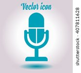 microphone icon. speaker symbol.... | Shutterstock .eps vector #407811628