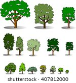 trees | Shutterstock .eps vector #407812000