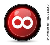 infinity sign icon. internet... | Shutterstock .eps vector #407813650