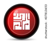 circuit board icon. internet... | Shutterstock .eps vector #407813653