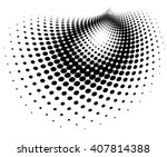 vector abstract dotted... | Shutterstock .eps vector #407814388