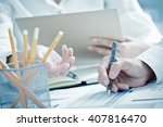 business people discussing the...   Shutterstock . vector #407816470