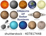 space set planets solar system  ... | Shutterstock .eps vector #407817448