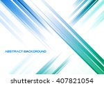 abstract blue and green rays on ... | Shutterstock .eps vector #407821054