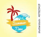 summer time in beach sea shore... | Shutterstock .eps vector #407825419