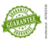 guarantee ribbon stamp vector... | Shutterstock .eps vector #407825530