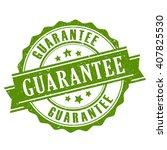 guarantee ribbon stamp vector... | Shutterstock .eps vector #407825530