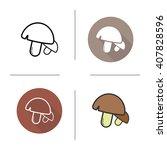 mushrooms icon. flat design ...