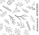 hand drawn doodle branches.... | Shutterstock .eps vector #407832850