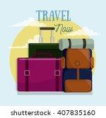 summer vacation  travel | Shutterstock .eps vector #407835160