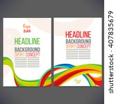 vector template design brochure ... | Shutterstock .eps vector #407835679