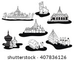 yangon icon places illustration | Shutterstock .eps vector #407836126