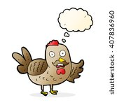 cartoon old rooster with... | Shutterstock .eps vector #407836960