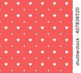 red seamless heart pattern | Shutterstock .eps vector #407838520