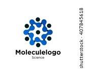 laboratorium logo template   | Shutterstock .eps vector #407845618
