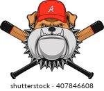 vector illustration  a fierce... | Shutterstock .eps vector #407846608