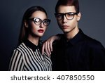 fashion models couple wearing...